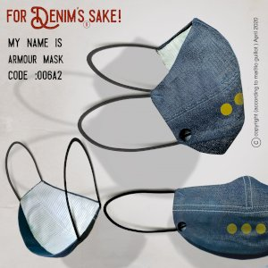 Armour denim face mask 006A2 - Pack No.- PACK OF 3 MASKS