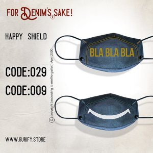 happy Shield Denim Masks- Pack of 2 Masks