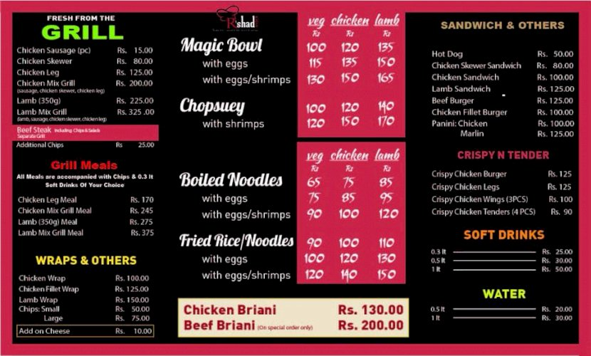 OUR MENU - PLACE YOUR ORDER NOW