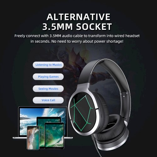 AWEI - FoldableGaming Headsetwith Mic